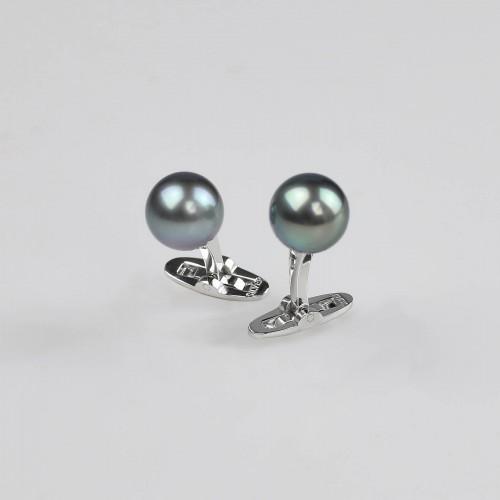 Tahitian pearls cufflinks