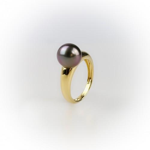 18K yellow gold ring,...