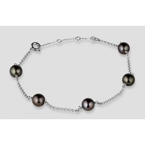 Bracelet argent 5 perles...
