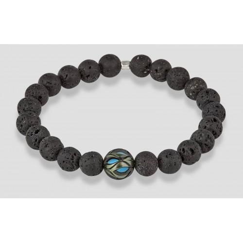 Bracelet perles volcaniques...
